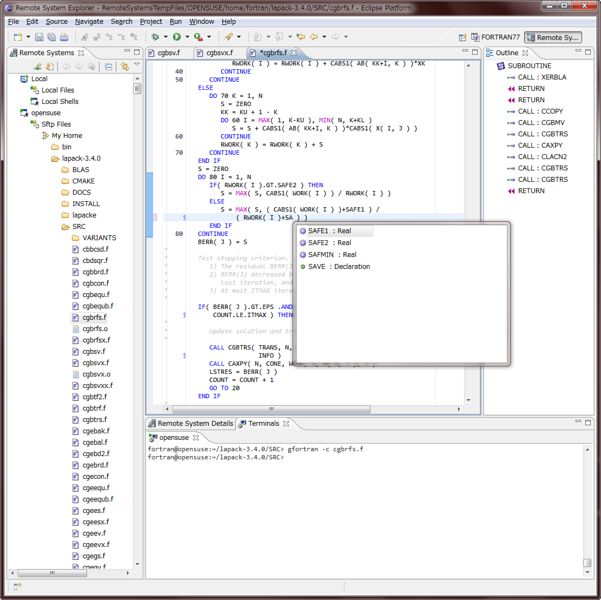 FORTRAN77 Editor Plug-in Project Top Page - OSDN